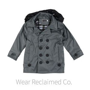 Western Chief Kids Charcoal Stanford Raincoat